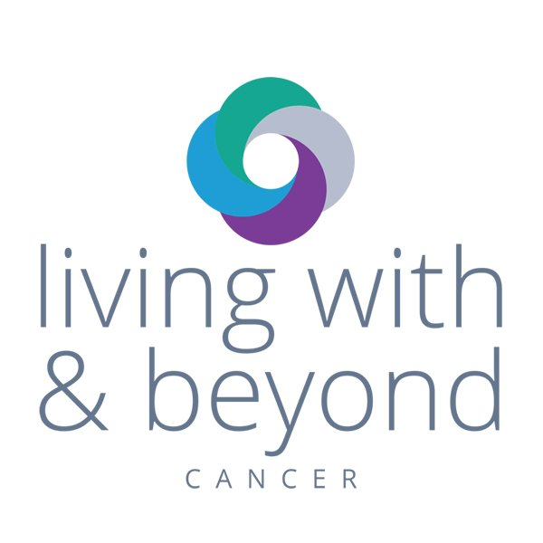 Living with and beyond cancer marketing logo