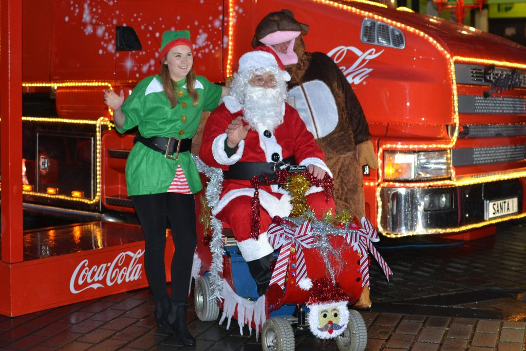 The Coca Cola Truck comes to town